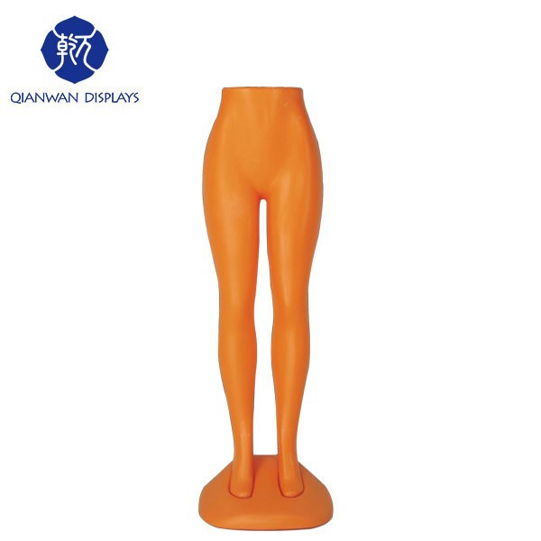 On sale cheap plastic used female mannequin legs for pants
