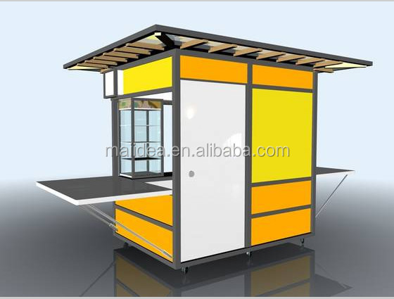 Nice looking with durable structure outdoor food kiosk for Garden kiosk designs