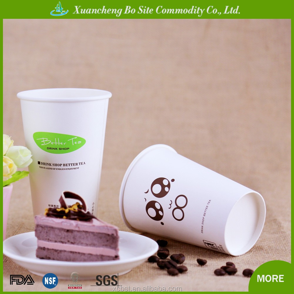 6oz customer logo printed disposable paper coffee cups for hot coffee drink