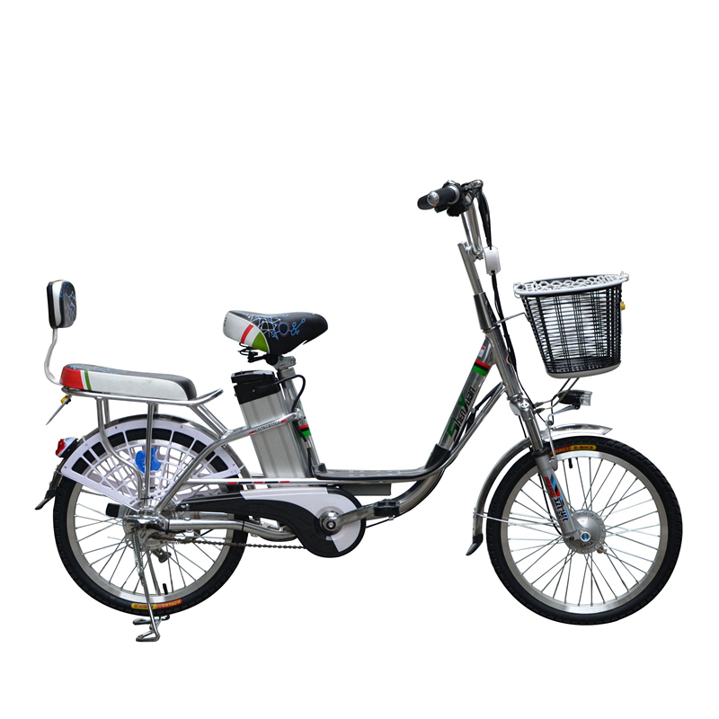 Classical design useful 2 wheel 2 seats electric dirt bike with pedal / bicycle with basket / e bike / motorcycle