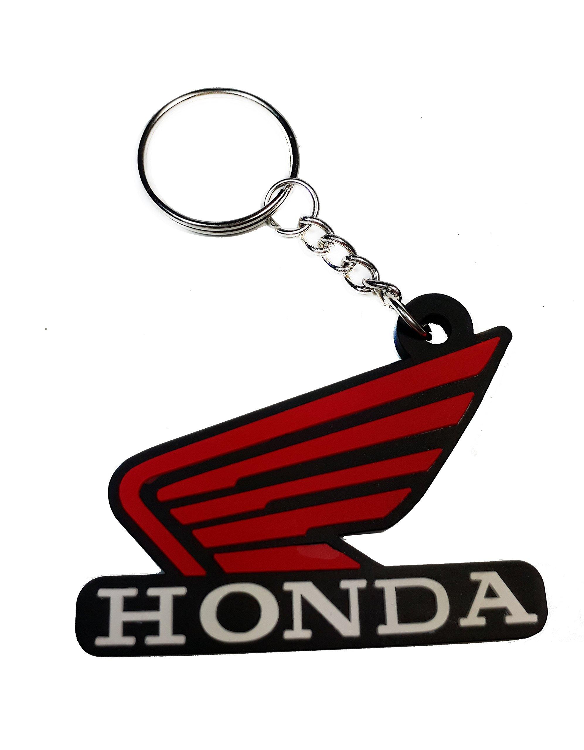 Honda Ridgeline Satin-Chrome Valet Key Fob Authentic Logo Key Chain Key Ring Keychain Lanyard