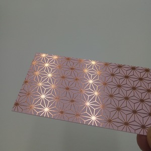 Luxury rose gold foil business card printing, full color printing name card