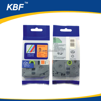 Compatible fluorescent orange tape P-touch TZ tape cartridge TZ-B21 TZe-B21 TZ2-B21