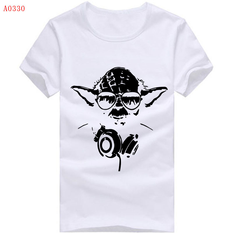 f7392ef7 Get Quotations · Famous Star Wars Yoda Movies T Shirt New Logo Design Men Tee  Shirts Master Funny Tee