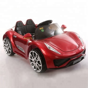 Round steering wheels rechargeable electric toy cars for kids