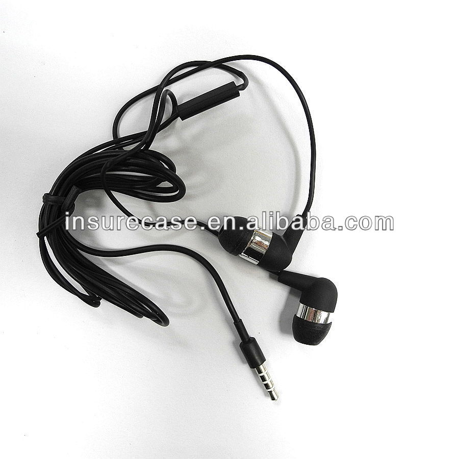 Promotional Cheap Price Stereo mobile earphone for samsung with Mic