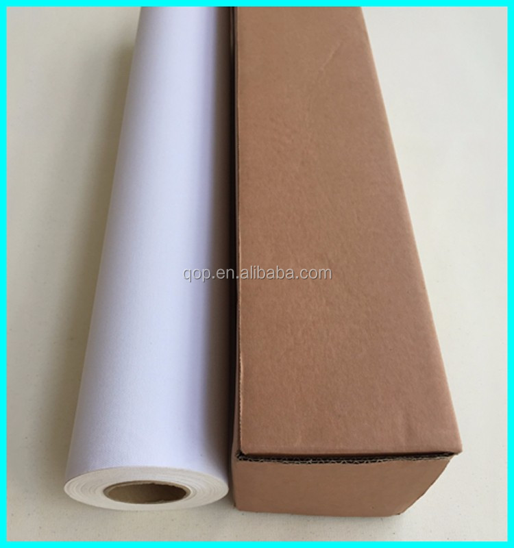 large stretched 100% polyester matte concrete inkjet aqueous canvas fabric