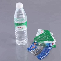 Mineral water bottle pvc shrink film printing label design