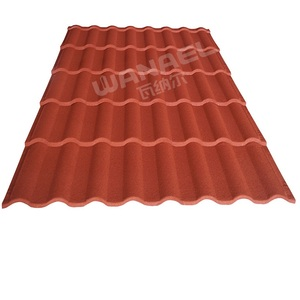 New Steel Roof Design, Wanael Milan Stone Chips Coated Galvanized Steel Roof Sheet, Curved Roof Tile