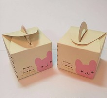 Christmas and new year paper packaging apple box