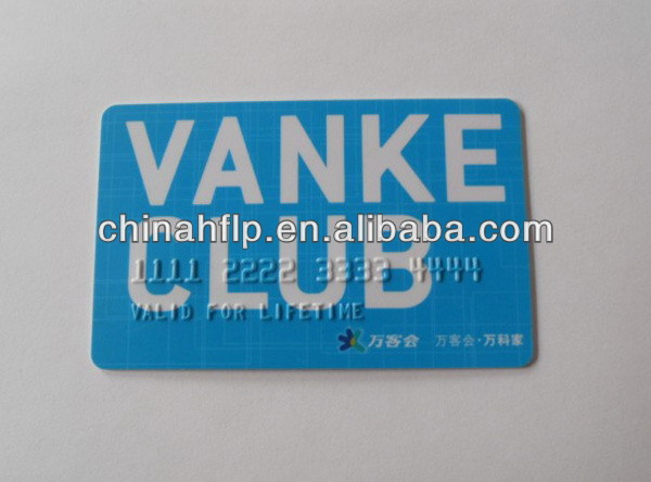 Folded colorful credit card sized pvc card