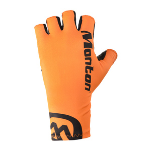 Monton Fluorescent Orange Half Finger Cycling Gloves Padded Wholesale
