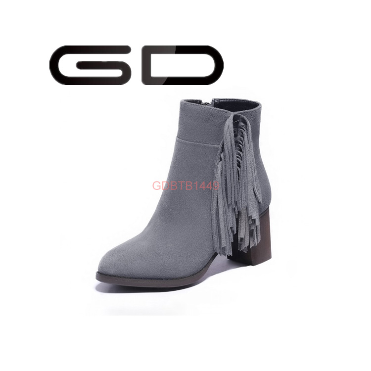 Korean style tassel high heel fashion boots for women