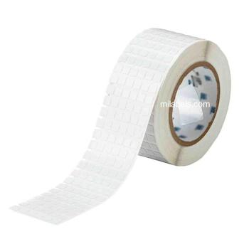 8 x 8mm Gloss White Electrical High Temperature Barcode Label on roll