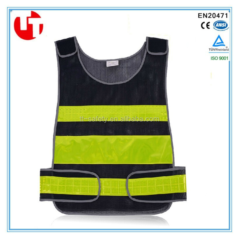 100% polyester mesh PVC reflective high visibility traffic police jacket