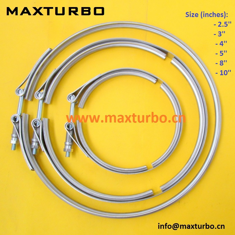 "OBX Universal Mild Steel 4/"" INCH V-Band Clamp /& Flange"