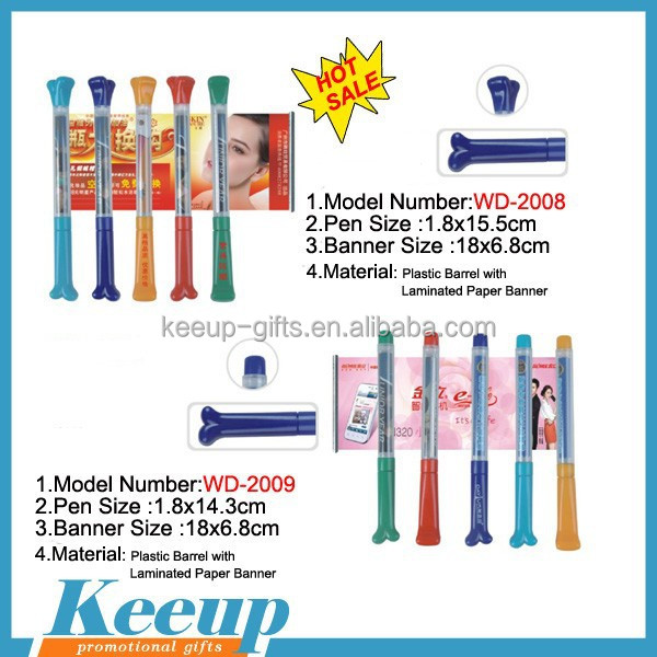 new promotional pens, retractable calendar pull out pen, national flag ring pen