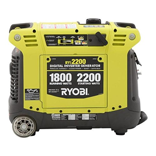 Buy Ryobi 2200 Watt Gray Gasoline Powered Digital Inverter Generator