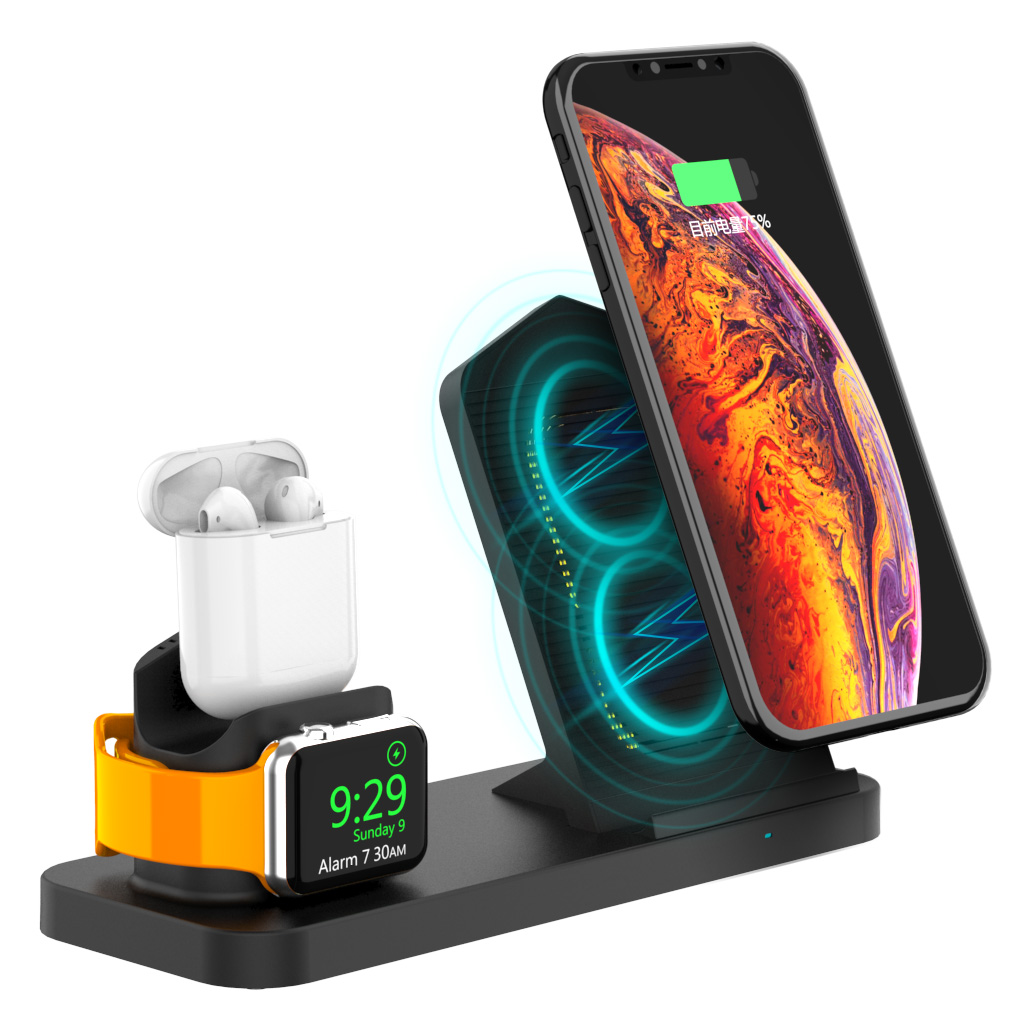 multifunctional 3 in 1 earbuds phone watch wireless phone charger