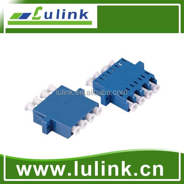 LC/UPC Single Mode Quad Fiber Optic Adapter