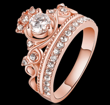 Gold or Rose Gold Plated Princess Crown Ring