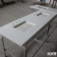 Sparkle Quartz Stone White vanity top/ kitchen countertop/table top