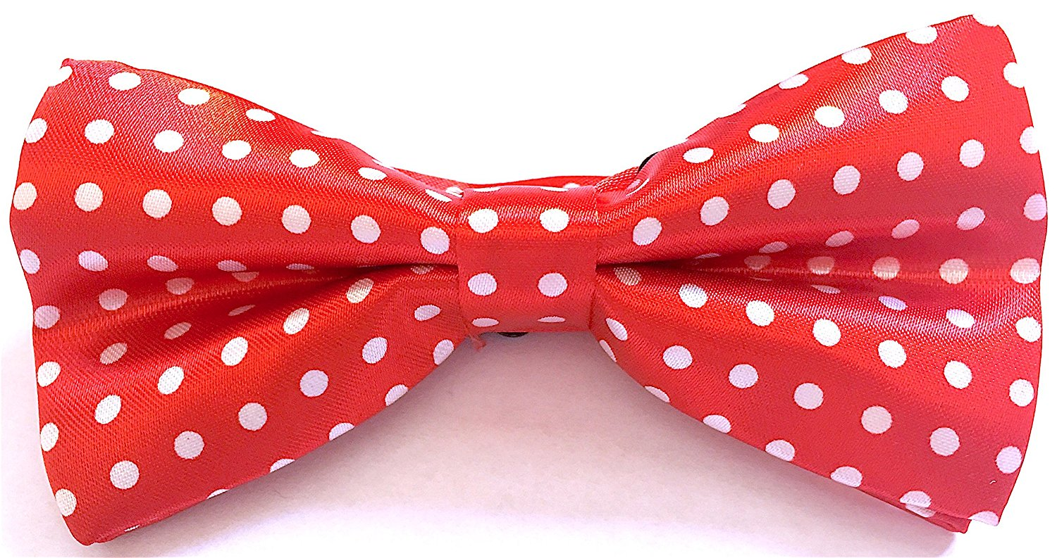 Mod Provisions Red & White Polka Dot Adjustable Pre-Tied Bow Tie