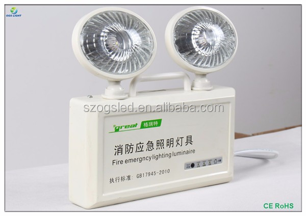 CE approval Public places 2A 800 Manickel Cadmium Battery LED emergency light for wholesales