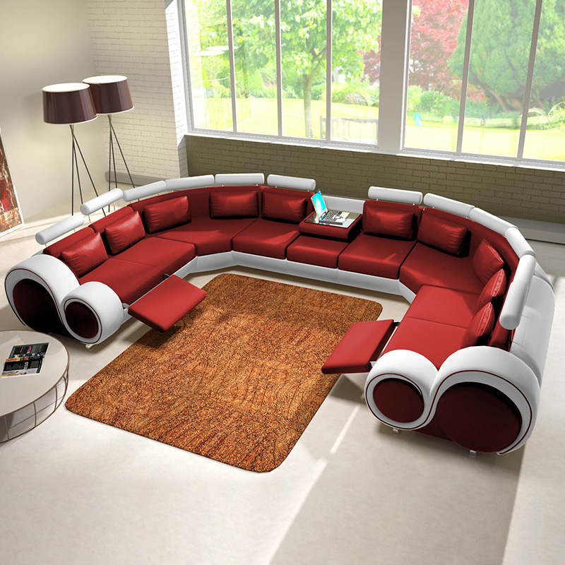 special design furniture genuine leather sectional <strong>sofa</strong> A088