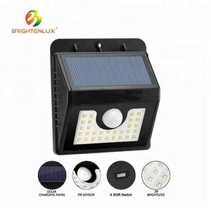 30pcs bright MSD led Wireless Security Night Lights 18650 battery solar motion sensor led light for Outdoor Garden