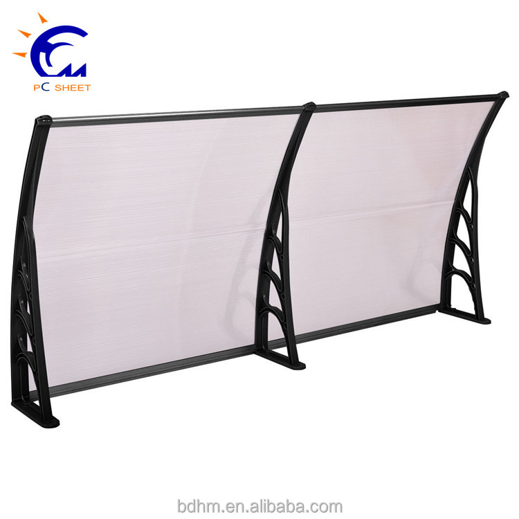 Outdoor car cover plastic polycarbonate awning and canopy