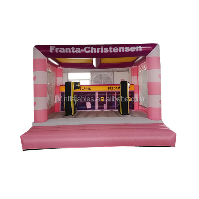 2019  customized inflatable gas station bouncy house for fun