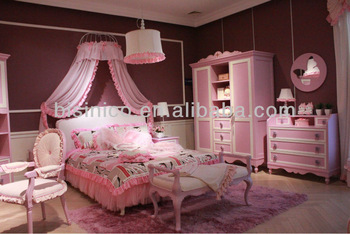 Romantice Teens Bedroom Furniture,Barbie Princess Bedroom Set(b50610 ...