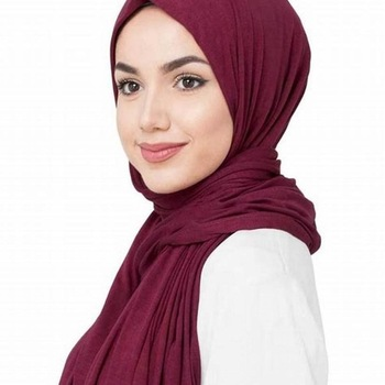 2019 Wholesale New plain Cotton Jersey Hijab