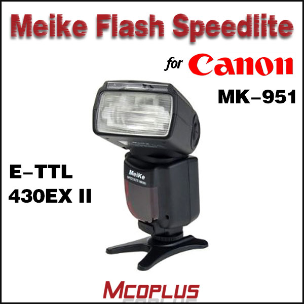 Mcoplus MK-951 Flash Speedlite E-TTL for Canon EOS 550D 600D 60D 50D 40D 5D II 7D T3i T2i 430EX II Flash Light