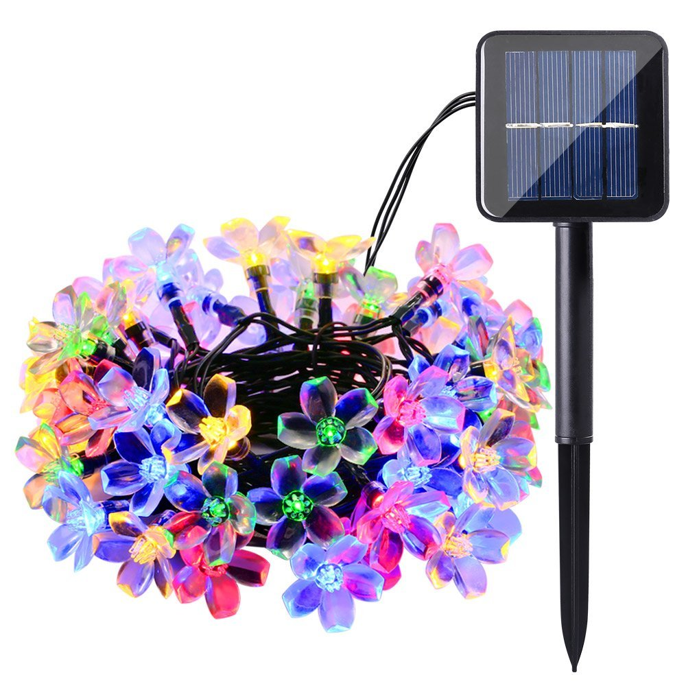 100 LED Solar Fairy Lights String Trees Christmas Party Garden Outdoor Light Chain