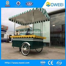 New Arrival Mobile Kitchen Food Cart Truck Outdoor / Hand Push Fryer Crepe Mobile Food Cart