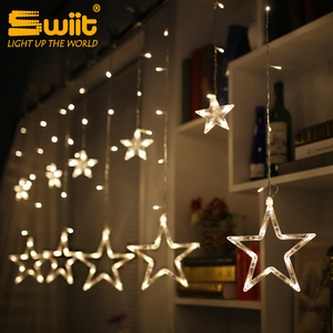 Hot-sale YLCLD1007 window waterfall star decoration safety fairy string led curtain light