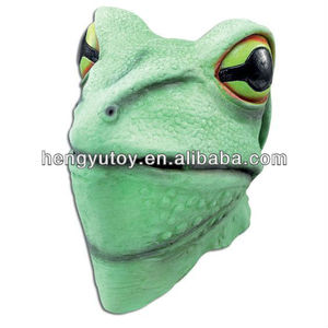 Adult Full Head Rubber Animal Party Mask Bull Frog Toad