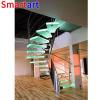 NEW design spiral staircase/stainless steel spiral wood stairs
