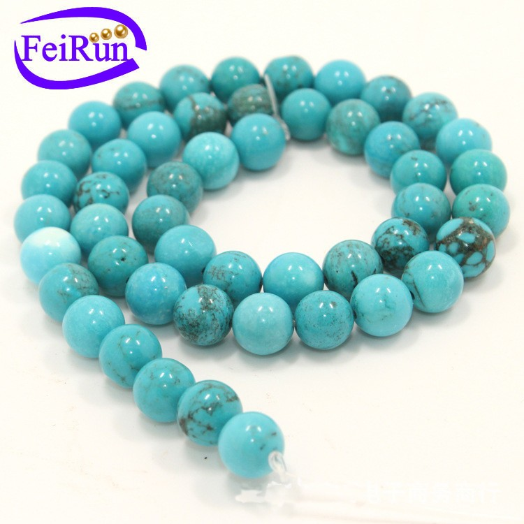 Xingjiang Blue Turquoise gemstone strands Loose beads wholesale factory supply