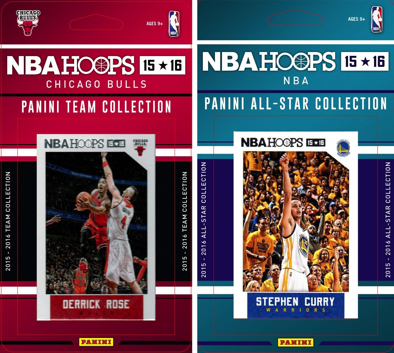 NBA Chicago Bulls Licensed 2015-16 Hoops Team Plus All-Star Trading Card Set