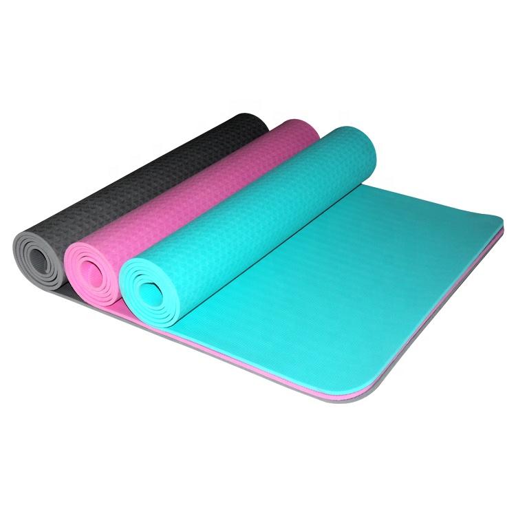 Eko Dostu Yeni Stil Spor Mantar PVC TPE EVA NBR Yoga Mat