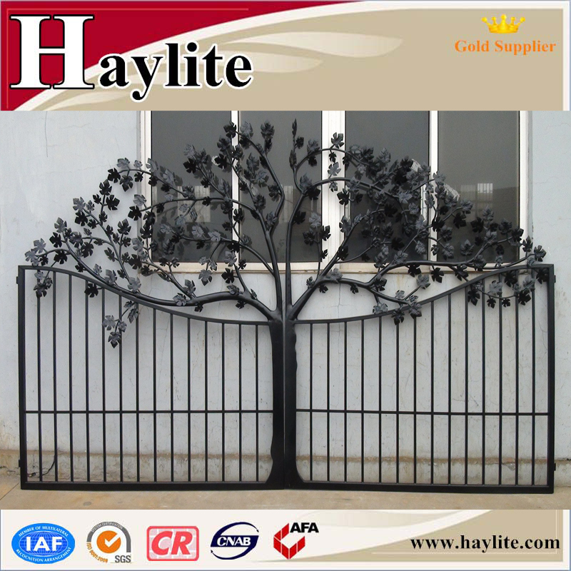 Cast Iron Square Tube Grill Gate Design With Hinge Buy Iron Gate