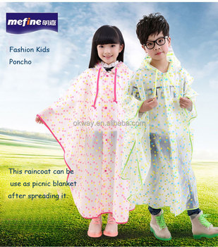 Rainproof Children Raincoat Plastic Transparent Eva Rain Coat Waterproof  Kids Rainwear Kids Poncho - Buy Girls Rain Poncho,Rain Ponchos Cheap,Kids
