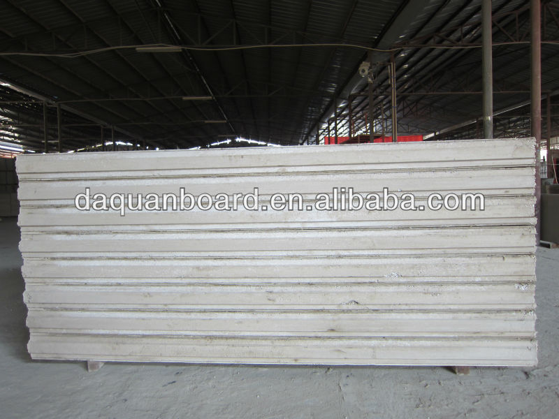 Daquan China construction steel eps concrete wall panels for smart prefab villa / house for export