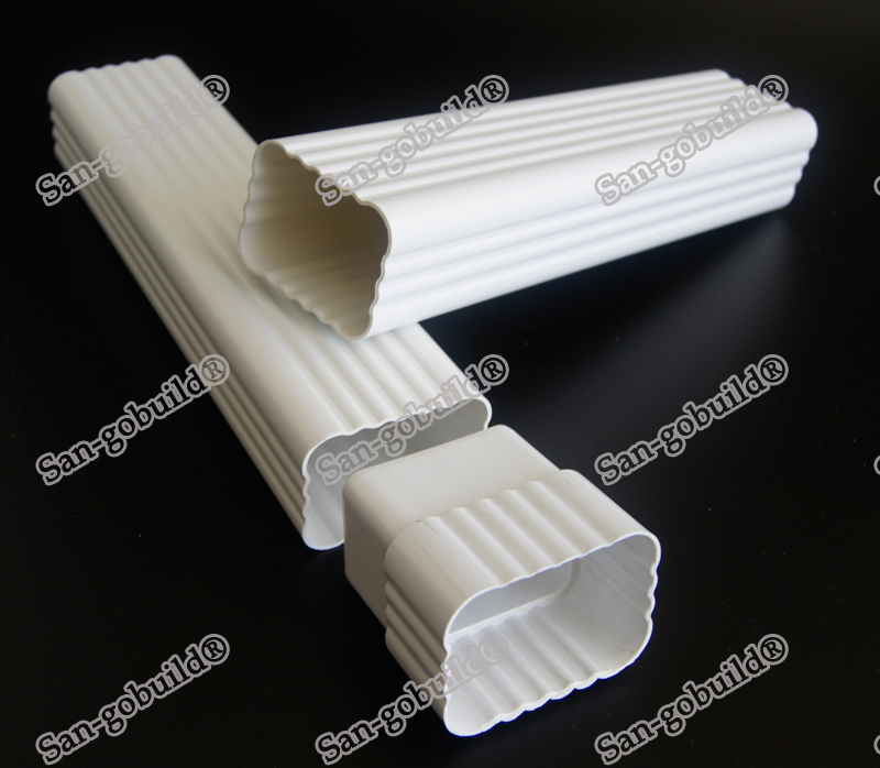 Uv Resistant House Roof Water Drainage System White Vinyl