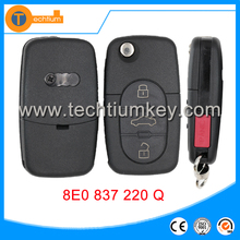 Hot sales For Audi 3+1 button remote control key with big battery 315MHZ car wireless remote key