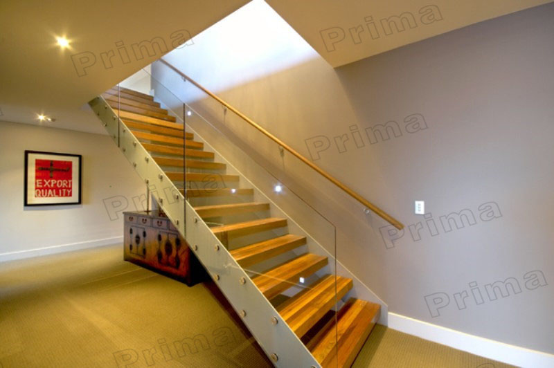 Captivating Wooden U Shaped Stair/double Stringer Stairs/indoor Wood Staircase Design
