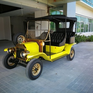 CE certificate 5 passengers city tour electric classic car with 100km mileage and 30km max speed